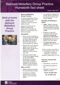 home birth fact sheet
